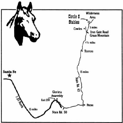 Map to Circle S Riding Stables